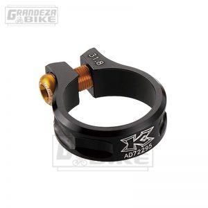 abrazadera de tija kcnc 31,8 mm negro