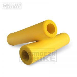 puño silicona bicicleta amarillo