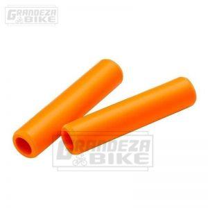 puño silicona bicicleta naranja