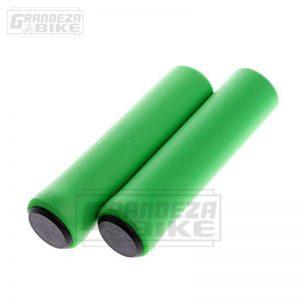 puño silicona bicicleta verde